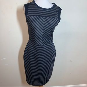 Sleeveless Blue and Gray Dress
